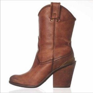 Lucky Brand Elle mid-calf western leather boots 9